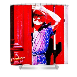 A Senior Moment Shower Curtain by Ira Shander
