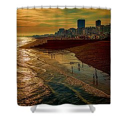 Shower Curtain featuring the photograph A September Evening In Brighton by Chris Lord