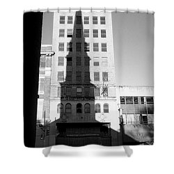 A Shadow Looms Over Us All Shower Curtain by James Aiken