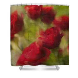 A Shower Of Roses Shower Curtain