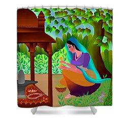 A Silent Prayer In Solitude Shower Curtain by Latha Gokuldas Panicker