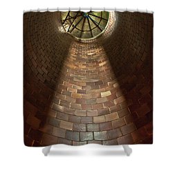 Shower Curtain featuring the photograph A Silo Of Light From Above by Jerry Cowart