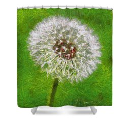 Shower Curtain featuring the painting A Simple Beauty by Joe Misrasi