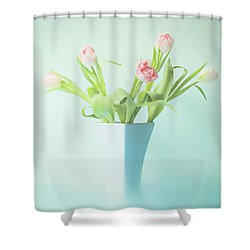 A Simple Bouquet Shower Curtain by Theresa Tahara