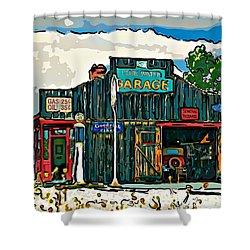 A Simpler Time 4 Shower Curtain by Steve Harrington