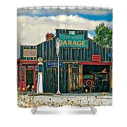 A Simpler Time Shower Curtain by Steve Harrington