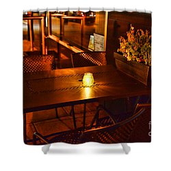 A Single Candle Burns. Shower Curtain by Paul Ward