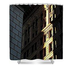 A Sliver Of Light In Manhattan Shower Curtain by James Aiken