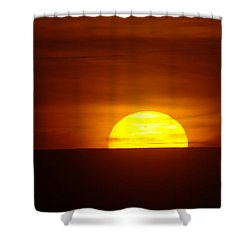 A Slow Sunset Shower Curtain by Jeff Swan