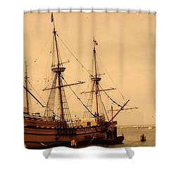 A Small Old Clipper Ship Shower Curtain