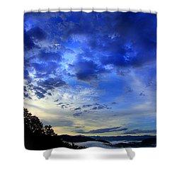 A Smoky Mountain Dawn Shower Curtain by Michael Eingle