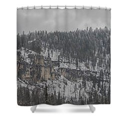 A Snowy Day In Spearfish Canyon Of South Dakota Shower Curtain