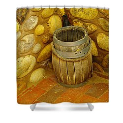 A Sole Barrel Shower Curtain by Jeff Swan