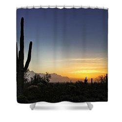 A Sonoran Sunrise  Shower Curtain