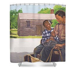A Sons Comfort Shower Curtain by Colin Bootman