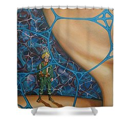 A Spelunkers Search For Life Shower Curtain