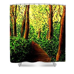 Shower Curtain featuring the painting A Spiritual Awakening by Hazel Holland