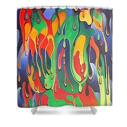 A Splash Of Paint Shower Curtain