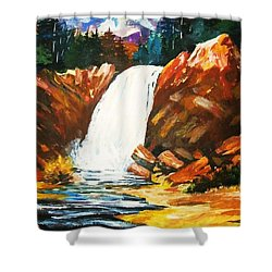 A Spout In The Forest Shower Curtain by Al Brown