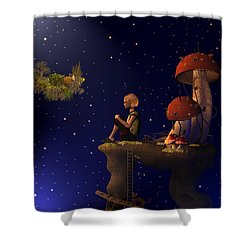 A Starry Starry Night Shower Curtain