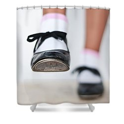 Old Tap Dance Shoes From Dance Academy - A Step Forward Tap Dance Shower Curtain