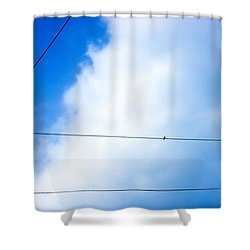 Stopover Between Flights Shower Curtain