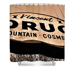 A Store For Everyone - Vintage Pharmacy Sign Shower Curtain