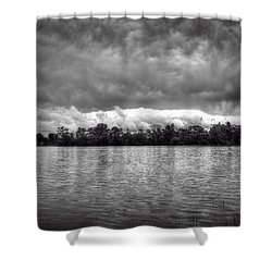 A Storm Rolls By Shower Curtain by Thomas Young