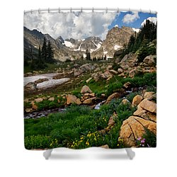 Shower Curtain featuring the photograph A Stream Runs Through It by Ronda Kimbrow