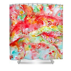 A Sudden Turn Can Come-a Road Appear Shower Curtain by Fabrizio Cassetta