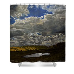 A Summer Day On Cottonwood Pass Shower Curtain by Thu Nguyen