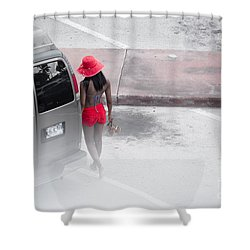 A Summer Splash Of Red  Shower Curtain by Rene Triay Photography