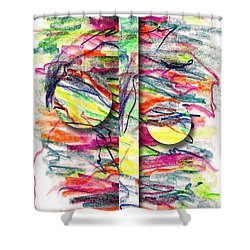 Shower Curtain featuring the drawing A Summers Day Breeze by Peter Piatt