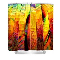 A Sunny Autumn Day  Shower Curtain by Andreas Thust