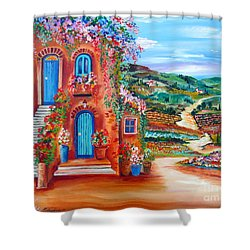 A Sunny Day In Chianti Tuscany Shower Curtain
