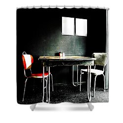 A Table For Two Shower Curtain by Steve Taylor
