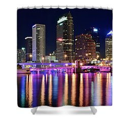 A Tampa Bay Night Shower Curtain