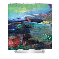 A Tear In Time Shower Curtain by Donna Blackhall