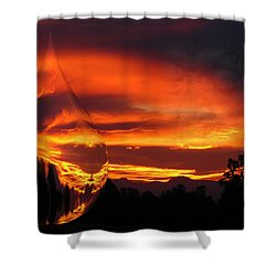 Shower Curtain featuring the digital art A Teardrop In Time by Joyce Dickens