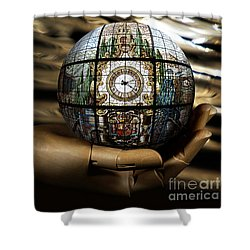 A Times Droplet Meditation Shower Curtain