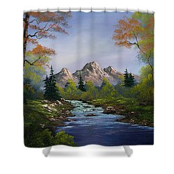 A Touch Of Autumn Shower Curtain by C Steele
