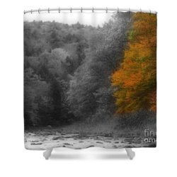 A Touch Of Autumn Colors Shower Curtain by Smilin Eyes  Treasures