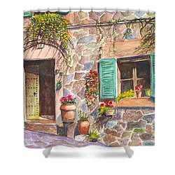 A Townhouse In Majorca Spain Shower Curtain