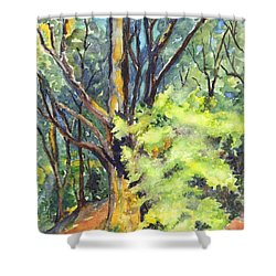 A Tree In Dunkeld Scotland Shower Curtain by Carol Wisniewski
