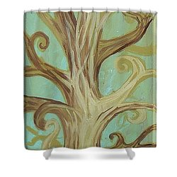 A Tree In Paris Shower Curtain by Genevieve Esson
