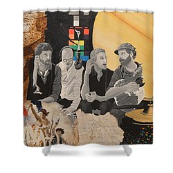A Tribute Shower Curtain by Leah Price