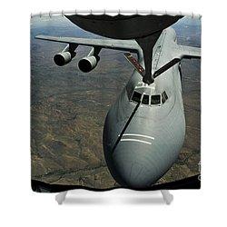A U.s. Air Force Kc-135r Stratotanker Shower Curtain by Stocktrek Images