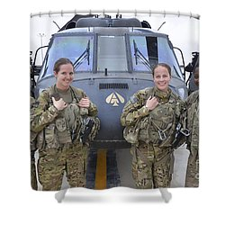 Shower Curtain featuring the photograph A U.s. Army All Female Crew by Stocktrek Images
