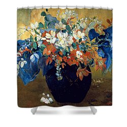A Vase Of Flowers Shower Curtain by Paul Gauguin