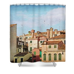 A Venetian View Shower Curtain